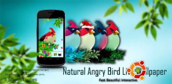 Живые обои Natural Angry Birds Free LWP