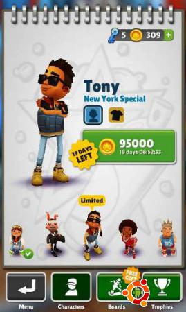 Игра Subway Surfers New York на андроид