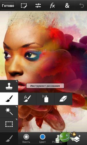 Приложение Adobe Photoshop Touch на Android